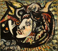 Mask Jackson Pollock circa 1941 Museum of Modern Art - New York (United States) Painting - oil on canvas Height: cm in. Action Painting, Drip Painting, Tachisme, Wyoming, Max Ernst, Op Art, Jackson Pollock Art, Jack Pollock, Pollock Paintings