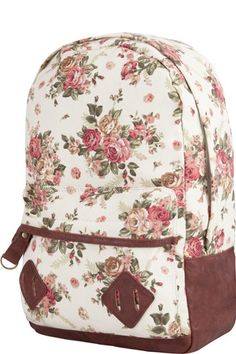 Tilly's Flower Print Backpack, $45.99, available at Tilly's. #refinery29 http://www.refinery29.com/school-bags#slide-2