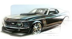 Car Design Sketch, Car Sketch, Mustang Drawing, Supercars, Mustang Boss, Ford Mustang, Car Illustration, Illustrations, Industrial Design Sketch