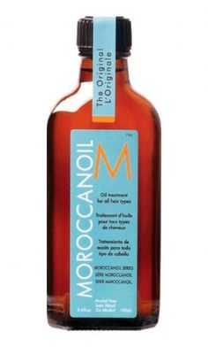 Moroccan hair oil, perfect for unruly hair.  Leave in conditioner, to get that soft shiny hair we all want!