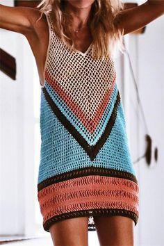 0c4bcbb399d593 Vacation Sandbeach Blouse Bikini Sexy Strip Knitted Sweater Vest – sweaters  cardigans winter