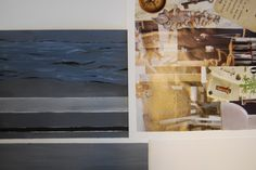 minimal collage + zelfontworpen behang