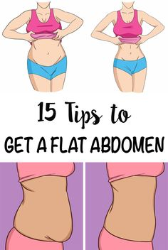 Find out how to efficiently burn belly fat and get a flat stomach with these 15 easy tips!