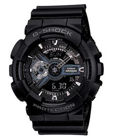G-Shock Men's Analog Digital Black Resin Strap Watch GA110-1B - Watches - Jewelry & Watches - Macy's