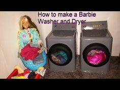How to make a Barbie Washer and Dryer - YouTube