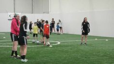 On Saturday, March 22, the James Madison women's soccer team collaborated with the Valley Fellowship of Christian Athletes of Harrisonburg to organize a soccer skills clinic for children age 4 to 12 desiring to spend Saturday morning learning and practicing soccer skills.