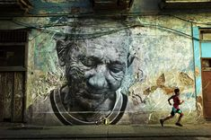 Enormous Street Art Portraits in Cuba by JR and Jose Parla