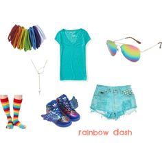 """Rainbow Dash: Casual"" by mahsitti on Polyvore"