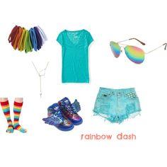 """Rainbow Dash: Casual"" by mahsitti on Polyvore"