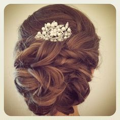 red jeweled hair comb - Google Search