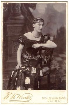Fortune teller, 1880s.  #1880s #victorian #bustlegown #bustle #bustleera #gypsy #costume