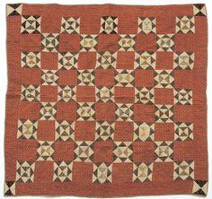 "Pennsylvania star variant crib quilt, 19th c., 43 1/2"" x 43"", Pook & Pook"
