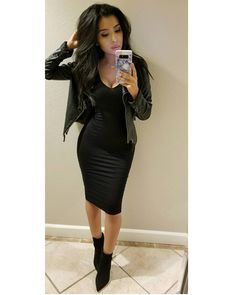 Likes, 56 Comments - Monica Gabriela Black Dress Jacket, Black Dress Outfits, Winter Dress Outfits, Date Outfits, Classy Outfits, Sexy Outfits, Stylish Outfits, Spring Outfits, Fashion Outfits