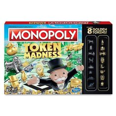 Featuring eight golden tokens from the January 2017 token vote, this Monopoly Token Madness Game by Hasbro delivers an enhanced version of the classic game. Monopoly Money, Monopoly Board, Monopoly Game, Fun Games For Kids, Games To Play, Board Game Online, Online Games, Kids Toys Online, Board Games For Couples