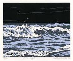 Image result for linoprint wave