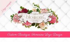 Chic, Niche and Glamorous Logo Design Portfolio - Miss Blossom Design™ Logo, Branding and Graphic and Web Design Boutique Design Boutique, One Logo, Tag Design, Logo Concept, Graphic Design Services, Typography Inspiration, Design Process, Portfolio Design, Logos