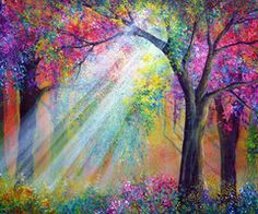 Color Forest... If you know the artist please comment and let me know. Thank you.