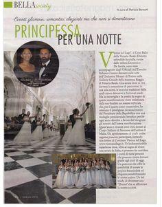"""Bella Magazine Editorial """"Il Grand Ballo di Venaria Reale"""" Le debuttanti  indossavano Abiti della collezione PASTORE BRIDAL"""
