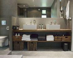 master bath sitting vanity sitting vanity in master bath . master bathroom with sitting vanity Wood Bathroom, Laundry In Bathroom, Bathroom Renos, Bathroom Interior, Bathroom Storage, Small Bathroom, Master Bathroom, Vanity Bathroom, Basement Bathroom