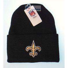 New Orleans Saints Black Cuffed NFL Classic Knit Cap Beanie