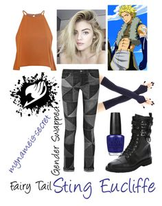 """Sting Eucliffe - Fairy Tail"" by mynameis-secret ❤ liked on Polyvore featuring Glamorous, Étoile Isabel Marant, Giuseppe Zanotti and OPI"
