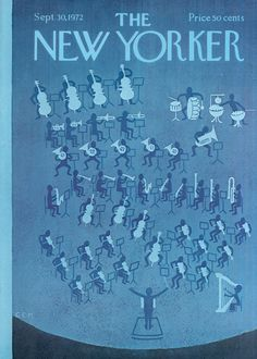 The New Yorker - Saturday, September 30, 1972 - Issue # 2485 - Vol. 48 - N° 32 - Cover by : Charles E. Martin