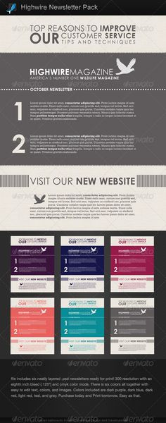 Newsletter Bundle PSD Newsletter templates, Print templates and