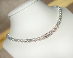 Sterling Silver Pearl Bridal Necklace Pearl Wedding by MARTALILY, £55.00 www.martalily.etsy.com