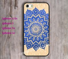 blue flowers  iPhone Case iPhone 4 Case iPhone 4s by charmcover, $7.99