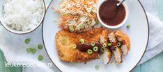 Tonkatsu (japanse schnitzel) - Leuke recepten Tonkatsu, Garam Masala, Japanese Food, French Toast, Dinner Recipes, Asian, Breakfast, Morning Coffee, Morning Breakfast