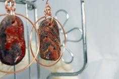 Driftwood earrings.handmade Driftwood hoop earrings by 1OKjewels on Etsy, €22.00