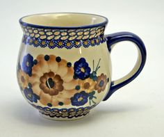 Large belly mug in one of my favorite patterns