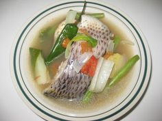 Filipino Dishes: SINIGANG NA TILAPIA (Tilapia fish sour soup)