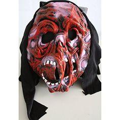 Maske TEUFEL / FRATZE / MONSTER / BESTIE Halloween, Karneval/Fasching, Horror - für Kinder & kleine Erwachsene oder Dekoration zu Halloween - Real Halloween