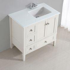 "Simpli Home Chelsea 37"" Single Right Offset Bath Vanity Set"
