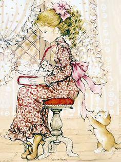 Sie sind so verspielt. Sarah Key, Holly Hobbie, Mary May, Decoupage, Dibujos Cute, Vintage Drawing, Australian Artists, Cute Images, Illustrations