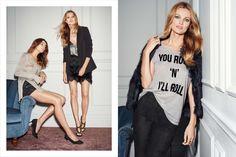 Edita Vilkeviciute Pose for H&M holiday season 2015 Lookbook