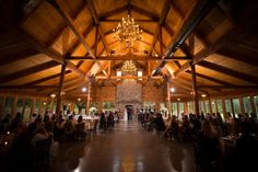 The indoor ceremony space at the Pavilion at Carriage Farm makes for an elegant country scene perfect for any southern bride and groom.