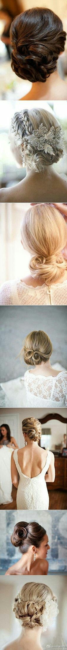Different hairstyles buns