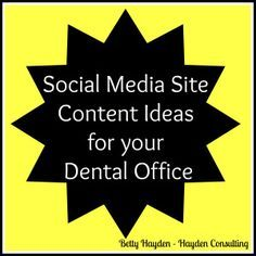 social media help for dentists