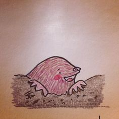 This little guy is a happy mole!  #sketchbook #childrensillustration #playfulstories #fb #twitter #mole #ink #pencildrawing