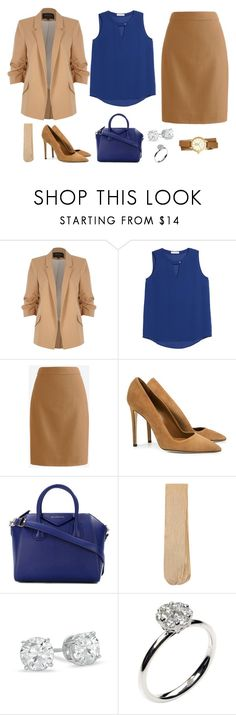 """деловой стиль"" by partners-ko on Polyvore featuring мода, River Island, Chaus, SUNO New York, Givenchy, Monsoon, Annoushka и Tory Burch"