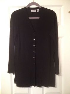 Chico's Traveler's Long Sleeve 6 Button Top Size 1 | eBay