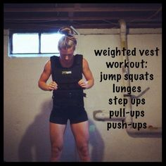weighted vest workout