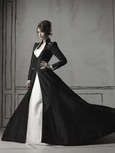 Black White Wedding Dresses 20