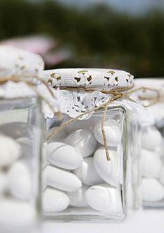 Santorini Wedding favors | View the full gallery here:http://www.tietheknotsantorini.com/santorini-wedding-favors