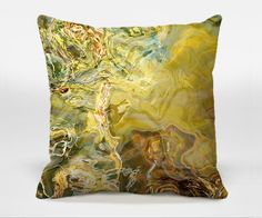Decorative throw pillow with abstract art 16x16 18x18 by ArtPillow, $30.00