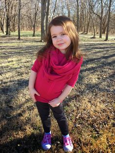 Free Sewing Pattern for Girls' Knit Infinity Scarf - Easy!