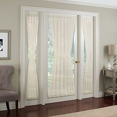 Crushed Voile Rod Pocket  Door Panel