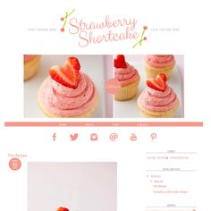 Blogger Template Premade Blog Theme  STRAWBERRY